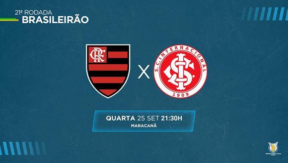 Internacional visita a Flamengo buscando revancha por la eliminación de la Copa Libertadores. (Foto: Brasileirao)