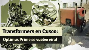 Optimus Prime sufre otro percance en las calles de Cusco y se vuelve viral