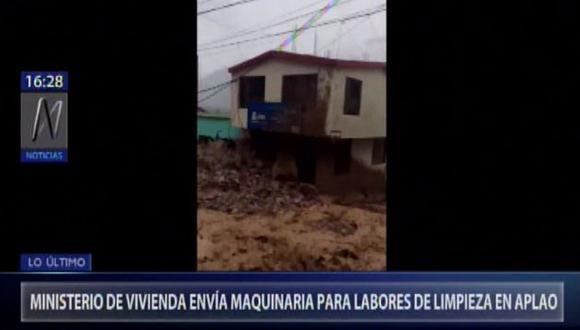 La evaluación preliminar elaborada por el Indeci reporta en Aplao 50 viviendas y 50 familias afectadas, 17 casas colapsadas y el mismo número de familias damnificadas; nueve heridos y tres fallecidos. (Foto: Canal N)