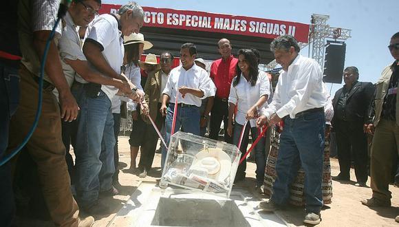 2. Humala puso la primera piedra del proyecto Majes-Siguas. (Heiner Aparicio)