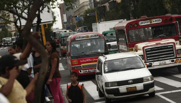 No circularán buses ni combis. (USI)