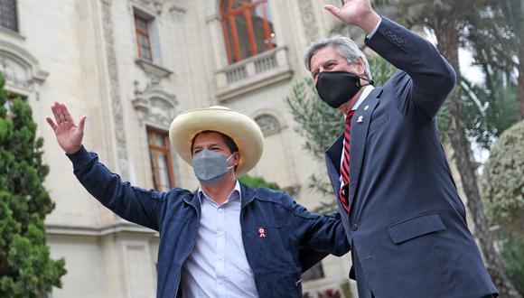 Pedro Castillo y Francisco Sagasti sostuvieron su primera reunión en Palacio de Gobierno (Foto: Palacio de Gobierno)