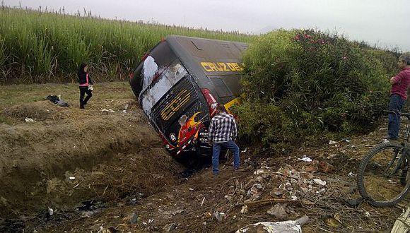 Chofer de bus Cruz del Sur iba a excesiva velocidad. (Alan Benites)