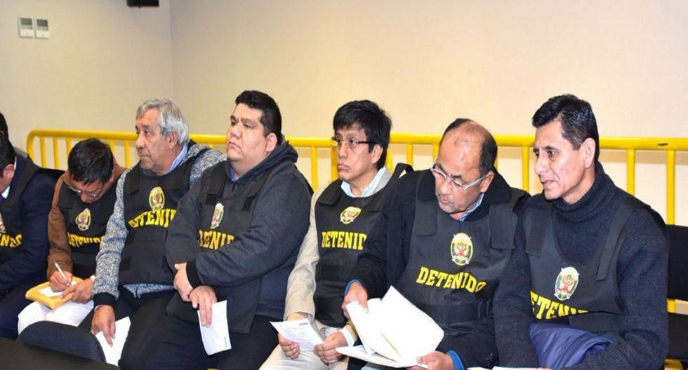 Once integrantes de la banda Los Cuellos Blancos del Puerto, además de Walter Ríos, recibieron 36 meses de prisión preventiva. (Foto: Difusión)