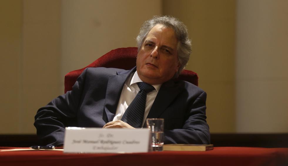 Pasan al retiro a los embajadores José Manuel Rodríguez Cuadros. (GEC)