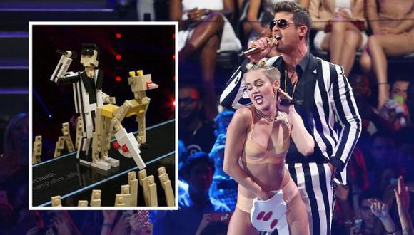 Baile de Cyrus sirvió de inspiración para crear una pieza de Lego. (AFP)