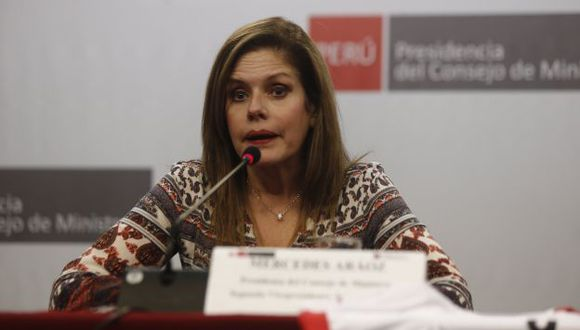 La primera Ministra Mercedes Aráoz ofreció una conferencia de prensa este miércoles. (Perú21)