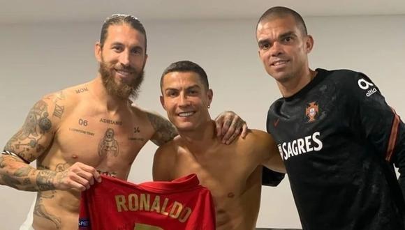 Cristiano Ronaldo y Sergio Ramos compatieron equipo en el Real Madrid por nueve años. (Foto: Instagram)