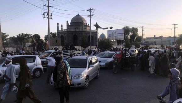El último viernes 13 los talibanes capturaron Kandahar, la segunda ciudad más grande de Afganistán. (Foto: EFE/EPA/STRINGER)