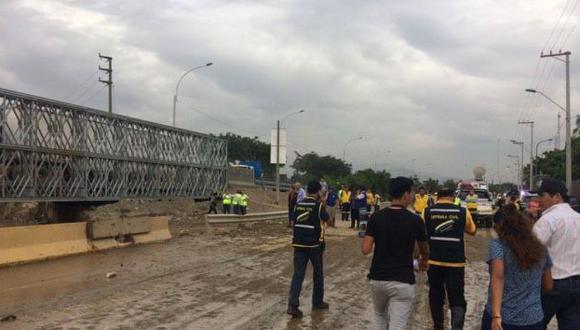 Desborde de los ríos han interrumpido el acceso a Huachipa. (Perú21)