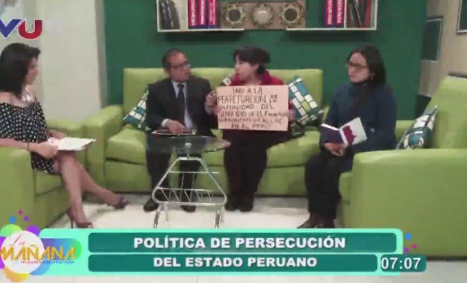LES DAN PANTALLA. También se pasearon por el canal TVU de La Paz.