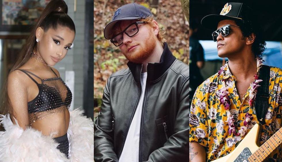 """Canciones de Ariana Grande, Ed Sheeran y Bruno Mars son vetadas en Indonesia por """"pornográficas"""". (Foto: Instagram)"""