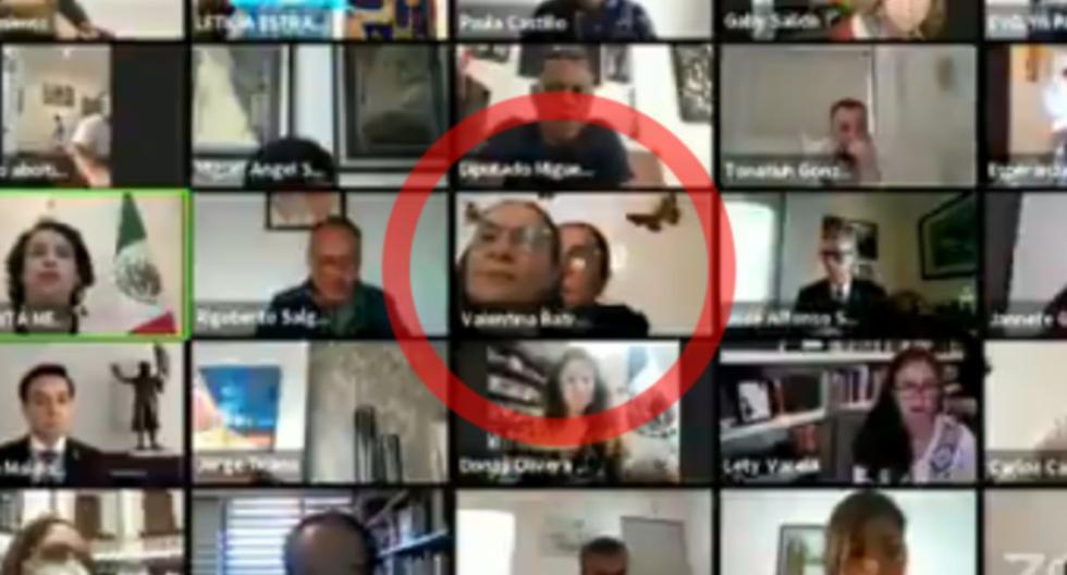 Diputada de México causa polémica al colocar una foto suya en medio de sesión virtual [VIDEO]