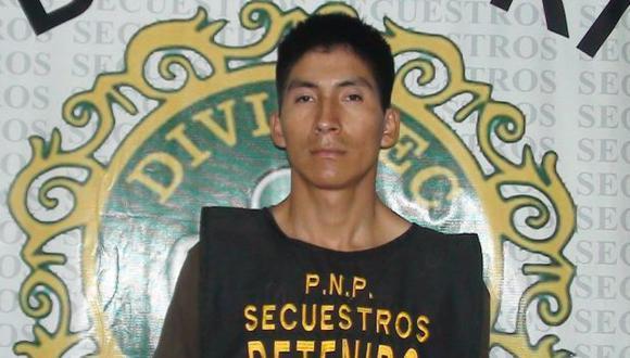 Secuestrador. Leve Quispe fue atrapado en Ate. (DIFUSIÓN)