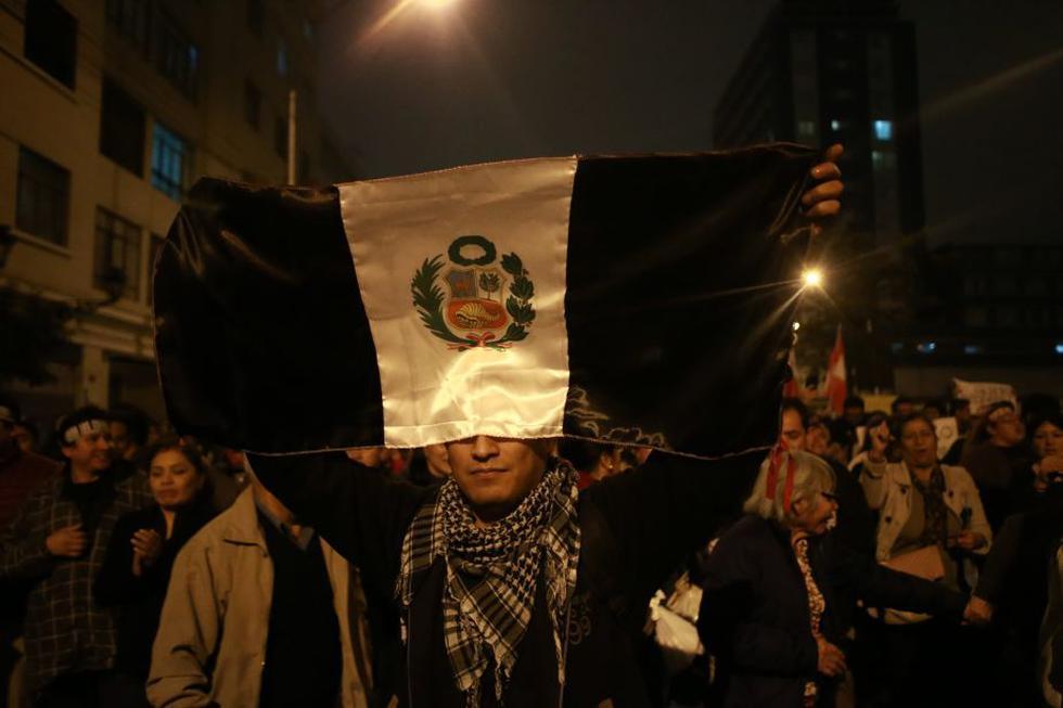 Ciudadanos marcharán por tercera vez este mes contra la corrupción en el sistema de justicia. (Renzo Salazar/Perú21)