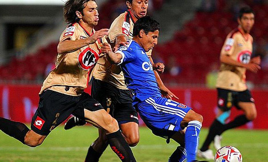 Ruidíaz lleva 8 goles desde que llegó al fútbol chileno. (La Tercera)