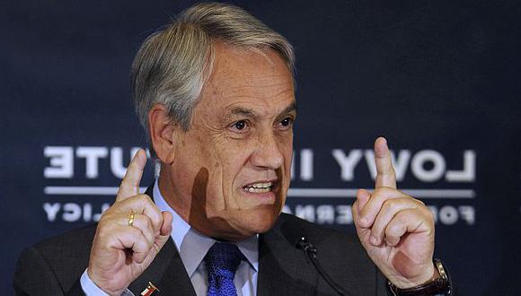SE PONE FUERTE. Al contestarle a Bolivia, Piñera le mandó una advertencia velada al Perú sobre el litigio en La Haya. (AP)