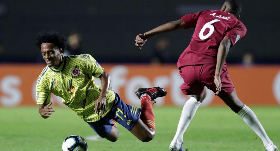 Qatar se defendió con todo, pero en los minutos finales llegó el único gol de Colombia. (Foto: Reuters)