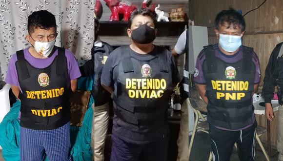 Agentes de la Diviac PNP detuvieron a 10 presuntos integrantes de la organización criminal 'Los ligeros del sur', dedicada a la extorsión y robo de vehículos. (Foto: PNP)