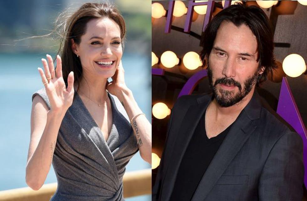 La actriz Angelina Jolie ya olvidó a Brad Pitt y mantendría una relación con Keanu Reeves. (AFP)