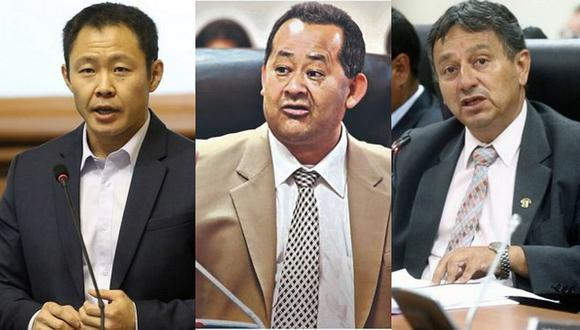 Kenji Fujimori, Bienvenido Ramírez y Guillermo Bocángel podrían pasar varios años en la cárcel. (Foto: GEC)