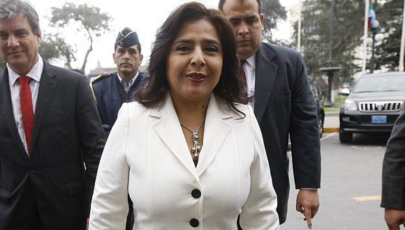 Prueba de fuego. Ana Jara sostendrá este martes reunión con bancada fujimorista en busca de votos. (David Vexelman)