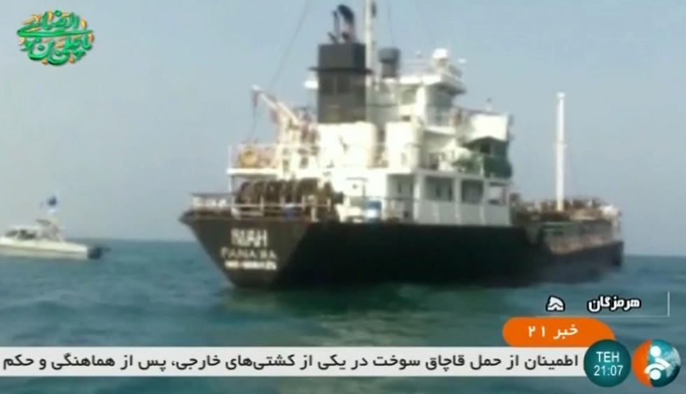 La fuerza naval iraní confiscó dos barcos, uno de procedencia británica. El otro con bandera de Liberia, pero que sería de dueños británicos. (Foto: AFP)