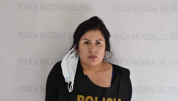 Jeny Dionisio Álvarez (35), alías 'Shakira', es sindicada de dirigir una banda de 'marcas. (Foto: PNP)