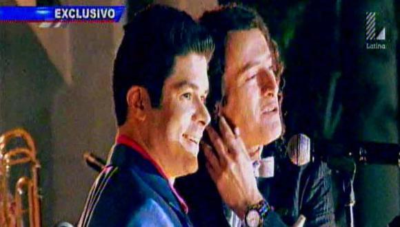 Rodó con Carlos Alcántara.  (Captura de TV)