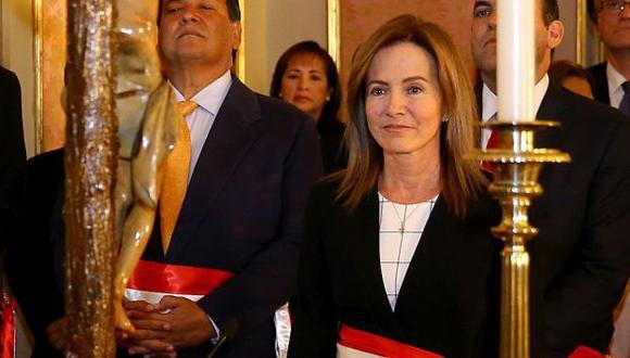 Marilú Martins agradeció al ministro Jaime Saavedra. (Presidencia Perú)