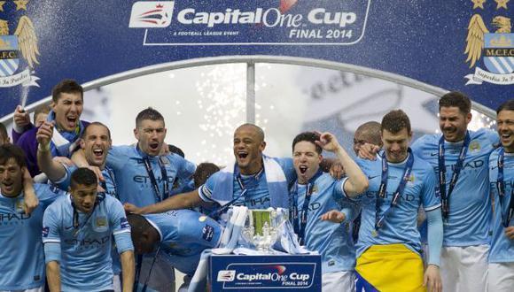 Manchester City gana Copa de la Liga inglesa. (AP)