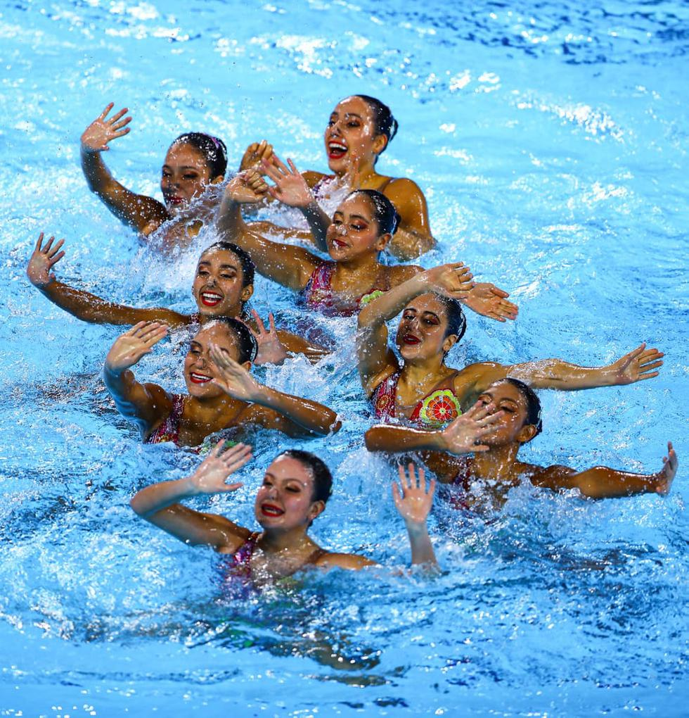Así fue la espectacular rutina peruana de natación artística. (Foto: Daniel Apuy/GEC)