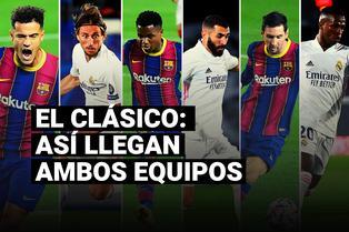 Conoce cómo llegan Barcelona y Real Madrid al clásico español por la Liga Santander