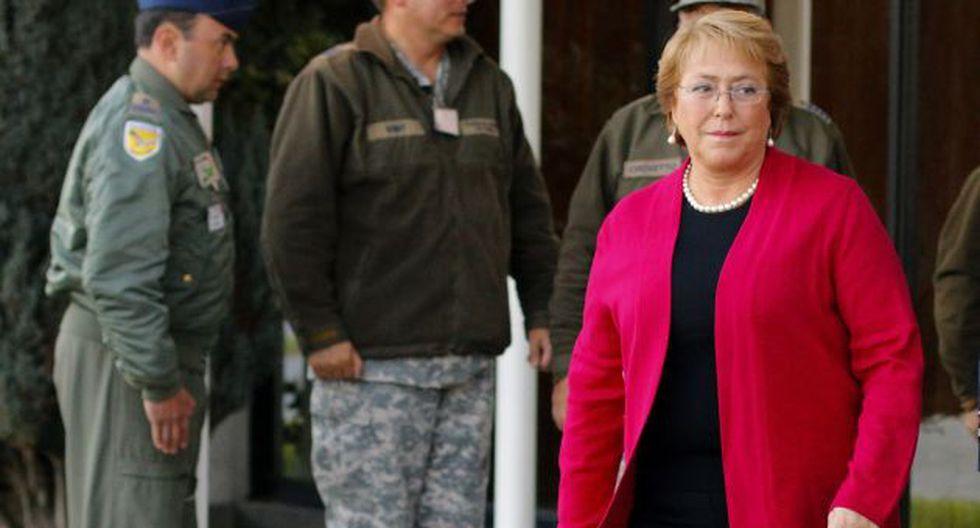 Michelle Bachelet dice que reconstrucción es a largo plazo. (EFE)