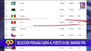 Perú desciende tres puestos en el ranking de la FIFA