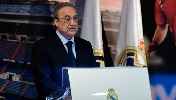 Florentino Pérez cumple su segunda etapa con presidente de Real Madrid (Foto: AFP).