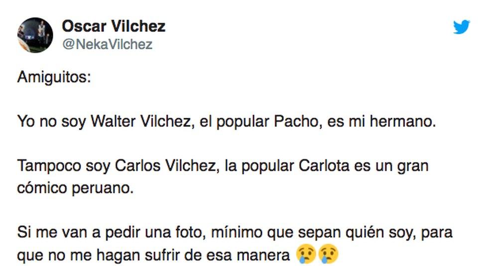 (Twitter Óscar Vílchez)