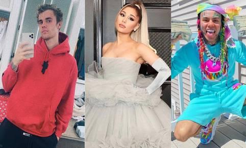 Ariana Grande y Justin Bieber le responden a las críticas de Tekashi 6ix9ine. (Foto: Instagram)