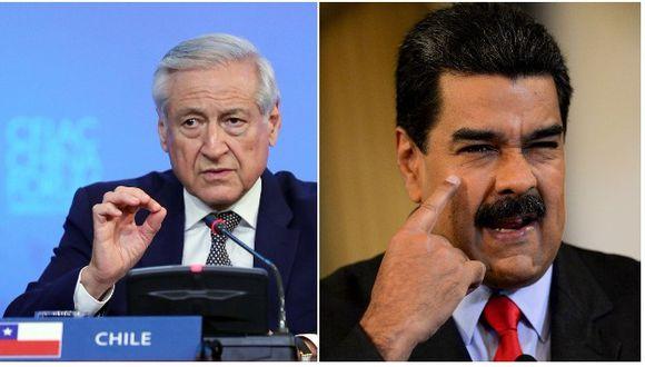 """Heraldo Muñoz señaló que hubo un """"quiebre"""" en los diálogos entre el chavismo y la oposición en el momento que se adelantaron las elecciones presidenciales en Venezuela (Efe/AFP)."""