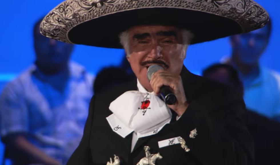 Vicente Fernández venció a la enfermedad tras someterse a cirugía.  (Foto: Captura de pantalla)