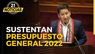 Premier Bellido y ministro Francke sustenta presupuesto 2022