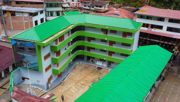 La obra fue creada por el municipio distrital de Machu Picchu, la cual cuenta con cuatro pisos laboratorios de cómputo, biología, concina, comedor, entre otros (Foto: Municipalidad de Machu Picchu)