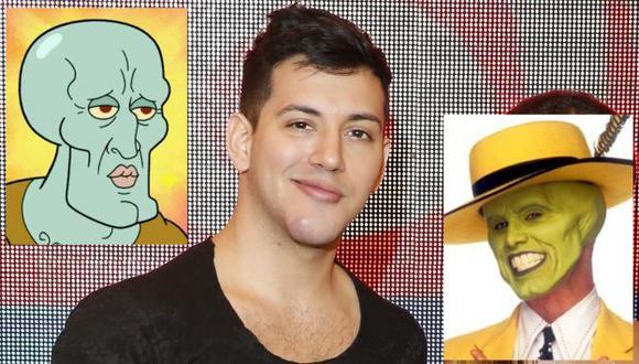 ¿A quién se parece Jean Paul Santa María con 'nuevo look'? ¿A 'Calamardo Guapo' o a 'La Máscara'? (Ernesto Quilcate/USI)