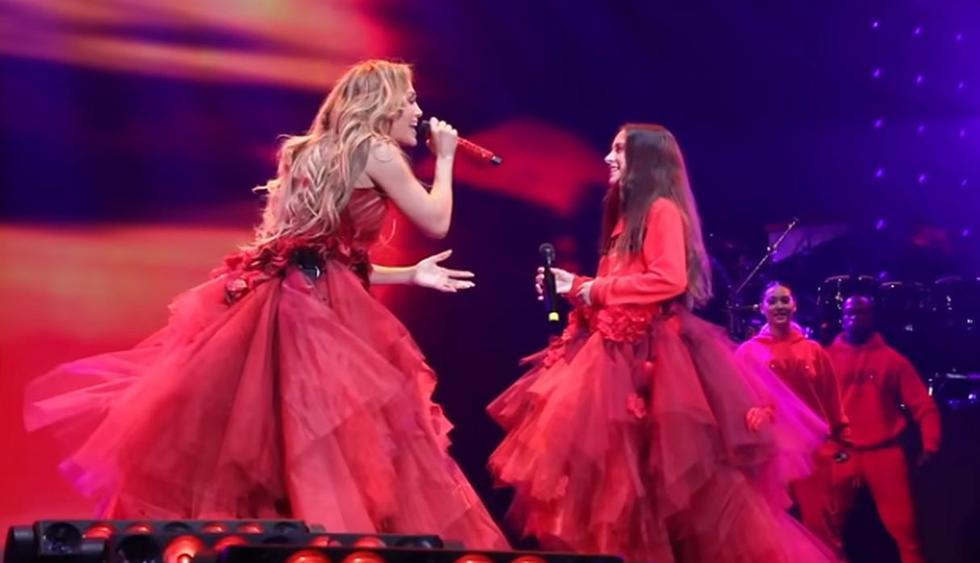 Jennifer Lopez comparte emotivo detrás de cámaras de su presentación junto a su hija Emme. (Foto: Captura de video)