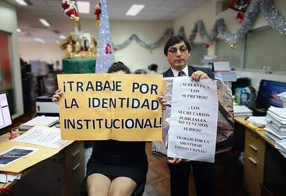 """Trabajadores del Poder Judicial rechazan declaraciones de Lecaros, quien sostuvo que son los secretarios judiciales los que se ve tentados a aceptar """"negociados""""."""