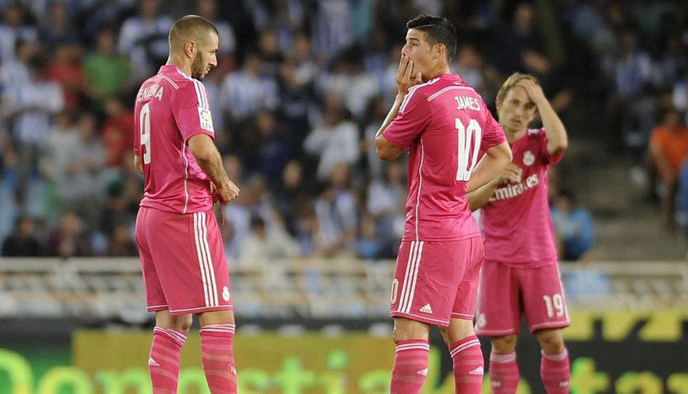 Real Madrid sufrió su primera derrota en la presente temporada de la Liga española al ser vapuleado por 4-2 por la Real Sociedad. (AFP)
