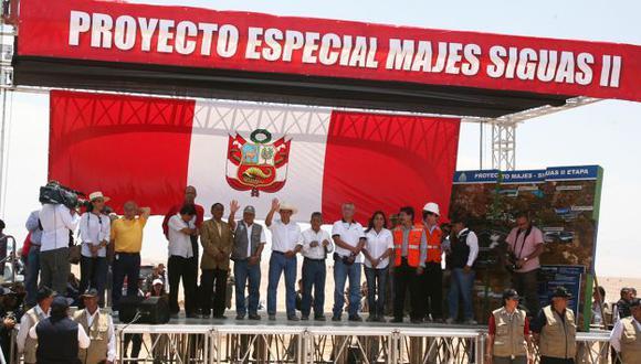 Ollanta Humala  dijo que Majes Siguas II será muy importante para desarrollo del sur. (Difusión)