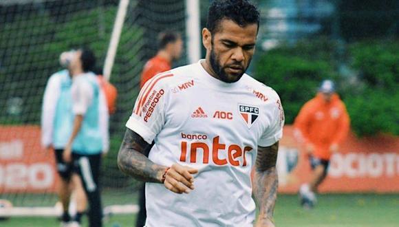 Sao Paulo tiene problemas para pagar el salario de Dani Alves. (Foto: @SaoPauloFC_esp)