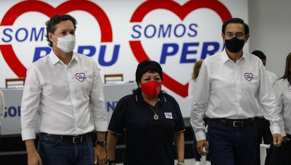 Daniel Salaverry, Patricia Li y Martín Vizcarra son identificados como los responsables de la renuncia masiva de militantes a Somos Perú. (Foto: GEC)
