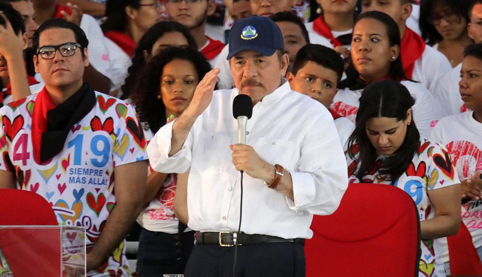 Daniel Ortega, presidente de Nicaragua, cierra las puertas a negociaciones con la oposición y rechaza sanción a sus funcionarios por parte de Estados Unidos. (Foto: AFP)